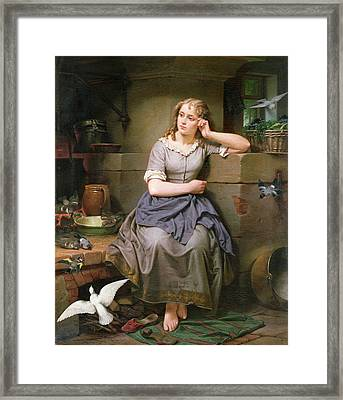 Cinderella And The Birds Framed Print by English School