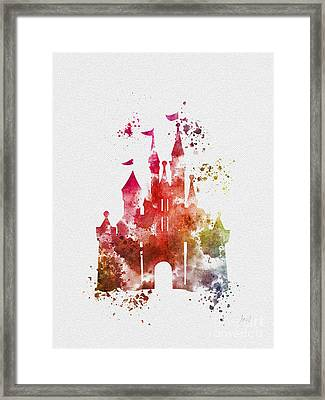 Cinderella Castle 3rd Edition Framed Print by Rebecca Jenkins