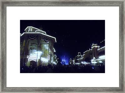 Cinderella Castle Glow Framed Print