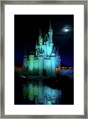 Cinderella Castle Reflection Framed Print