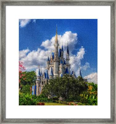 Cinderella Castle Summer Day Framed Print by Sandy MacGowan