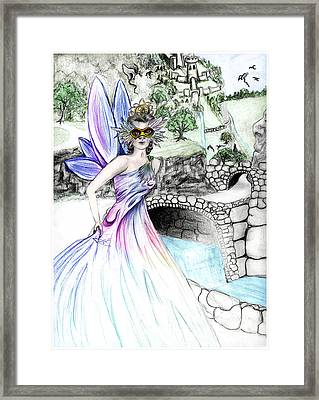 Fairytales Of Dragon Pass Castle, Costume Balls And Cinderella Framed Print by Janice Moore