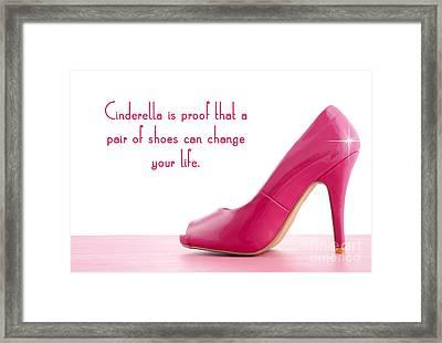 Cinderella Shoes Framed Print