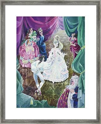 Cinderella. First Ball. Framed Print