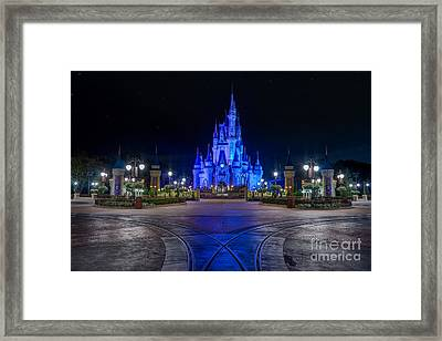 Cinderellas Castle Glow Framed Print