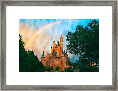 Cinderella's Castle Art Framed Print