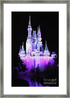 Cinderella's Holiday Castle Framed Print