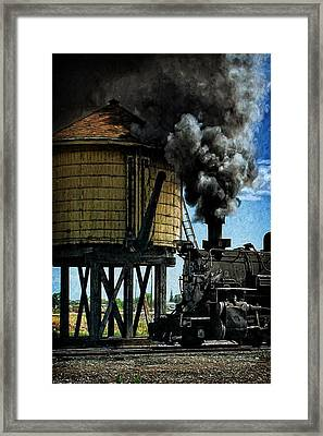 Cinders And Water Framed Print by Ken Smith
