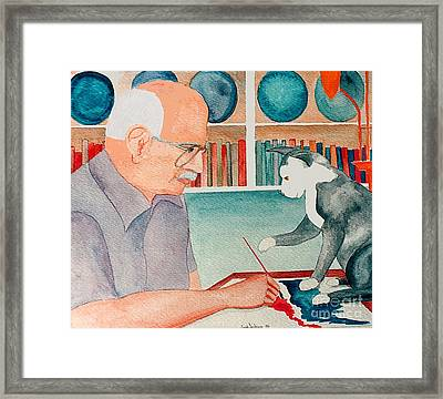 Cindy Helps Me Paint 1986 Framed Print by Fred Jinkins