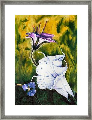 Cindy's Lily Framed Print by JoLyn Holladay