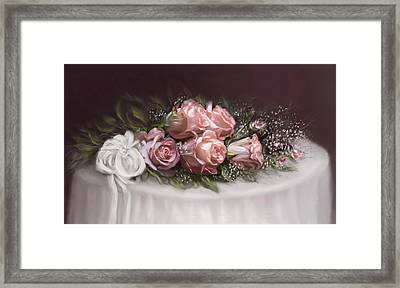 Framed Print featuring the painting Spray Of  Roses by Bonnie Willis