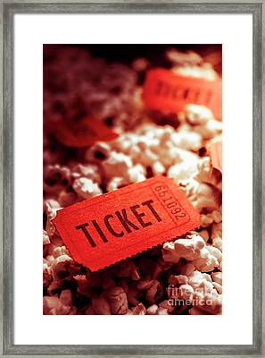 Cinema Ticket On Snackbar Food Framed Print by Jorgo Photography - Wall Art Gallery