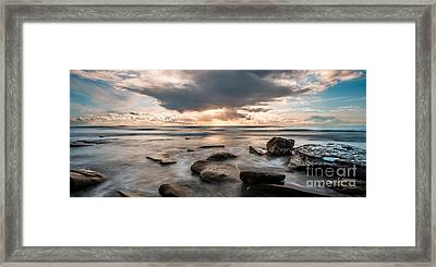 Cinematic Waves Framed Print