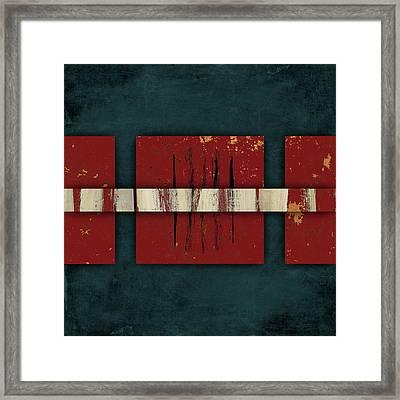 Cinnabar And Indigo Number 2 Of 2 Framed Print