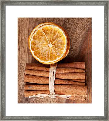 Cinnamon And Orange Framed Print