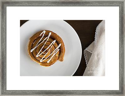 Cinnamon Bun Framed Print