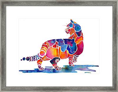 Cinnamon Cat Framed Print by Jo Lynch