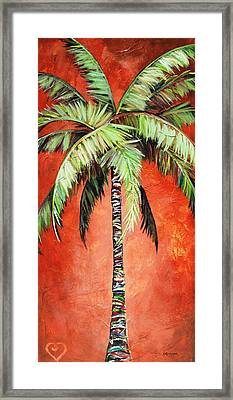 Cinnamon Palm Framed Print