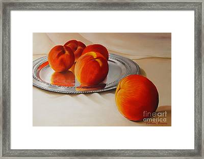 Cinque Pesche Framed Print by Colleen Brown