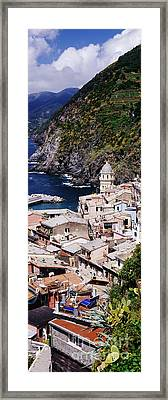 Cinque Terra Town Of Vernazza Framed Print