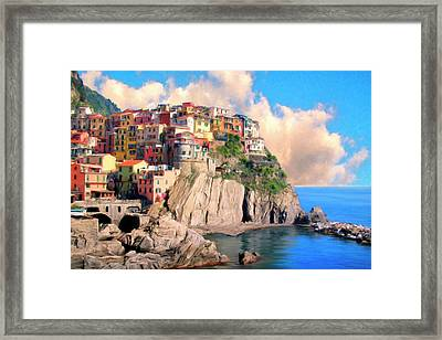 Cinque Terre Framed Print by Dominic Piperata