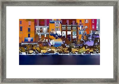 Cinque Terre  I Framed Print by Gareth Davies
