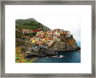 Cinque Terre Framed Print by Sierra Vance