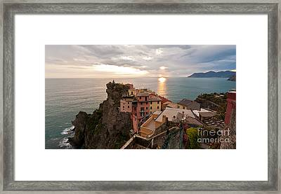 Cinque Terre Tranquility Framed Print by Mike Reid