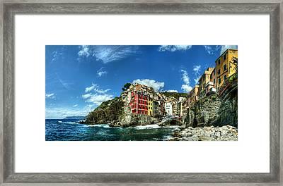 Cinque Terre - View Of Riomaggiore Framed Print