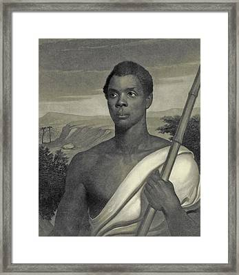 Cinque, The Chief Of The Amistad Captives Framed Print by J Sartain