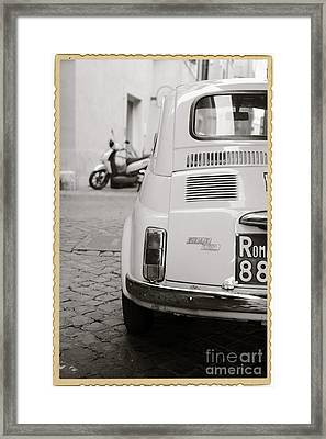 Cinquecento Black And White Framed Print by Stefano Senise