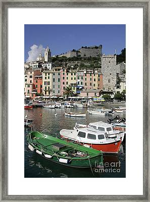 Cinqueterre Boats Framed Print by Stan and Anne Foster