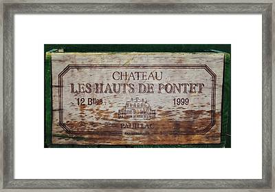 Cinquiemes Crus Framed Print by JAMART Photography