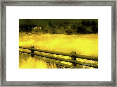 Ciquique Pueblo Meadow 2 Framed Print