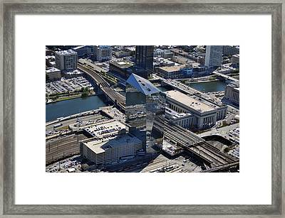 Cira Centre And Amtrak Garage 30th And Arch Streets Philadelphia Pa 19104  Framed Print