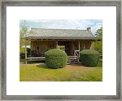 Circa 1900 Dogtrot Cabin Of Ephriam Brown From Lake Mills Florida Framed Print