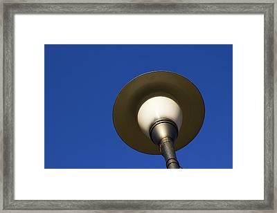 Circle And Blues Framed Print by Prakash Ghai