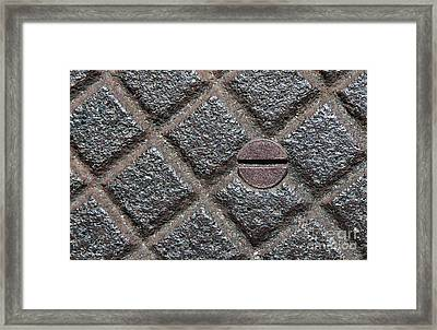 Circle And Squares Framed Print