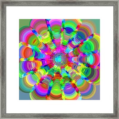 Circle Art 2 Framed Print by Chris Butler