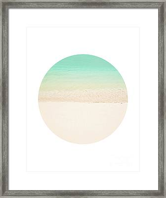 Circle Beach Framed Print by Delphimages Photo Creations