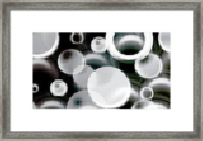 Circle Blocks Framed Print