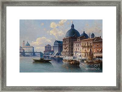 Circle Canal In Venice Framed Print by Celestial Images