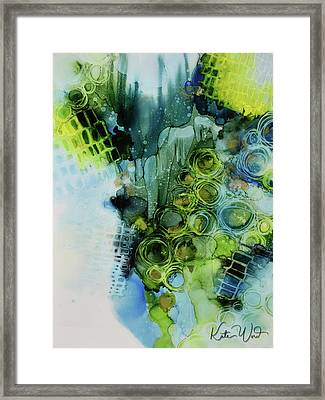 Framed Print featuring the painting Circle Magic 1 by Kate Word