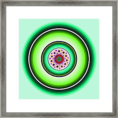 Circle Motif 229 Framed Print by John F Metcalf