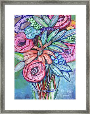 Circle Of Flowers Framed Print by Anne Seay
