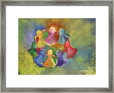Circle Of Friends Framed Print by Susan Vannelli