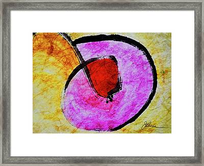 Framed Print featuring the painting Circle Of Life by Joan Reese