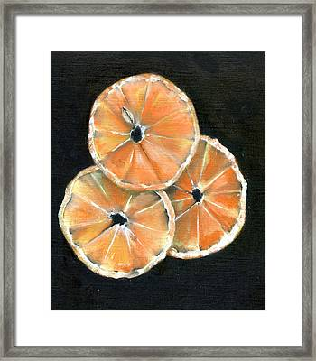 Circle Of Orange Framed Print by Penny Everhart