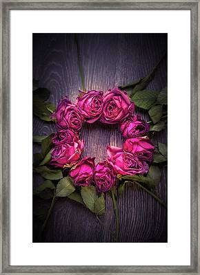 Circle Of Roses Framed Print by Svetlana Sewell