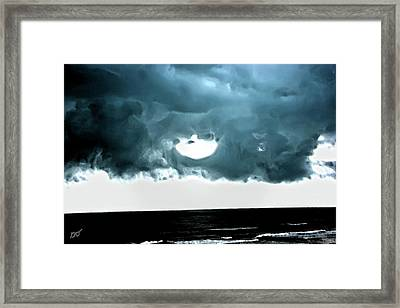 Circle Of Storm Clouds Framed Print